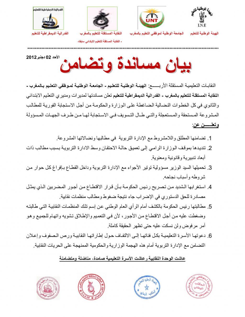 ]النقابات تساند وجمعيتنا تماطل